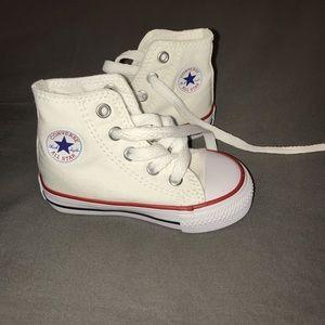 Toddler White Hightop Converse